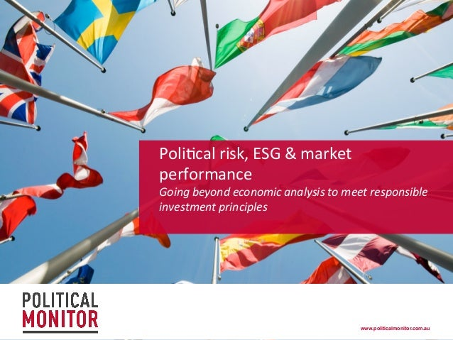 Political risk, ESG and market performance - March 2014