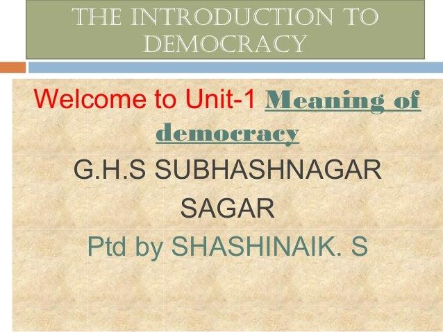 Political Science Democracy 8th Class Karnataka state syllabus - by shashi naik sir