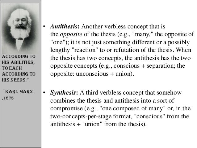 thesis antithesis synthesis taoism