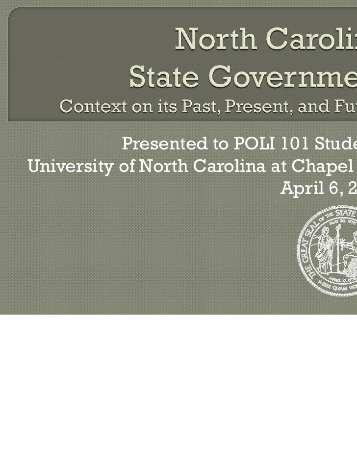 UNC-Chapel Hill Guest Lecture