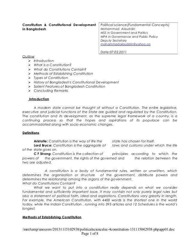 Political science lec 4(constitution)