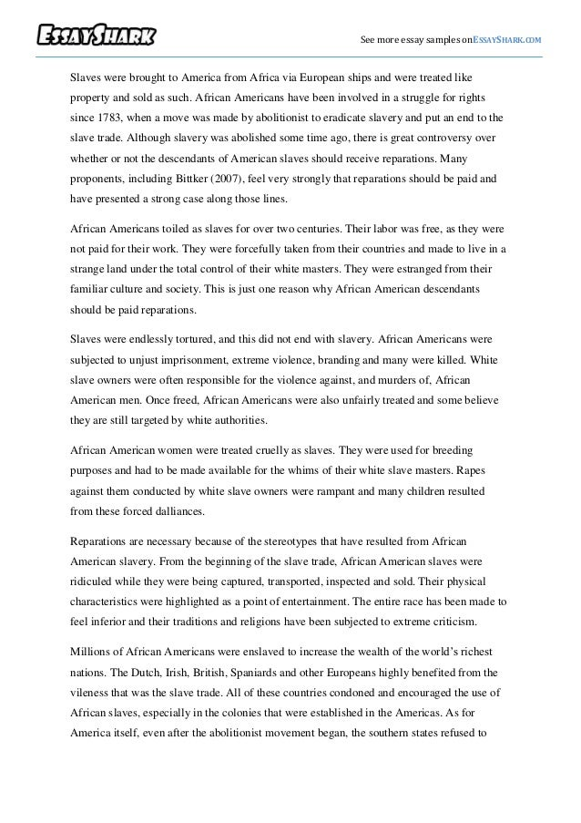 political essay examples semutmyipme political science paper sample see more essay samples onessayshark comslaves were brought to america from africa