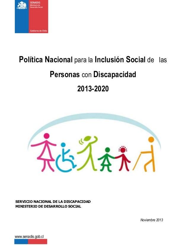 Politica nacional para la inclusion social
