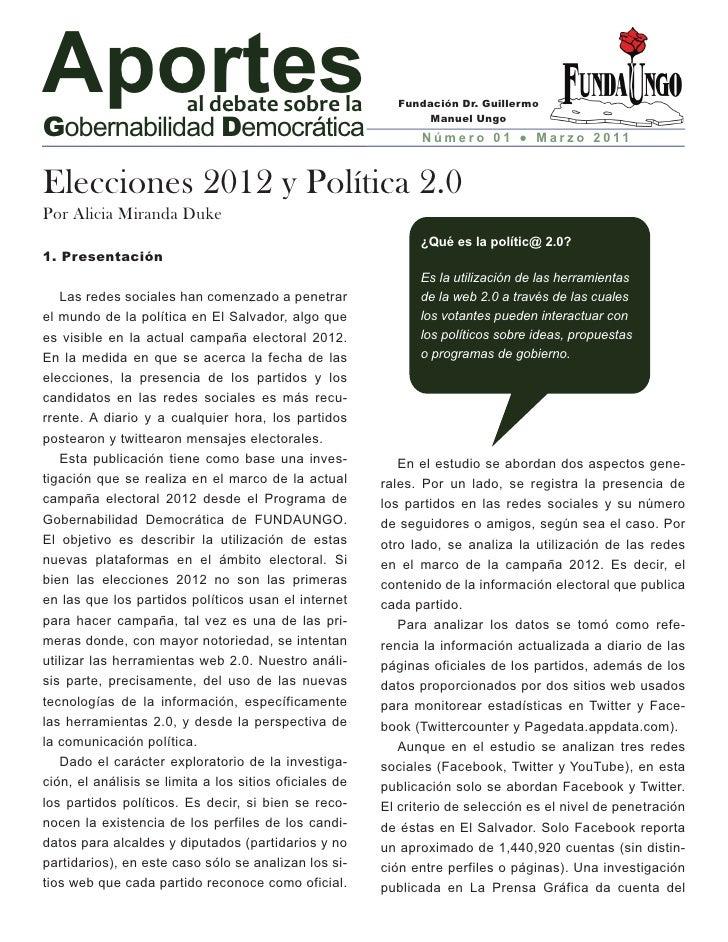 Elecciones 2012 y Política 2.0