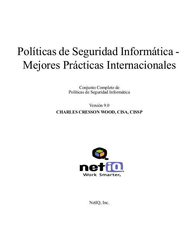Políticas de Seguridad Informática Mejores Prácticas Internacionales Conjunto Completo de Políticas de Seguridad Informáti...