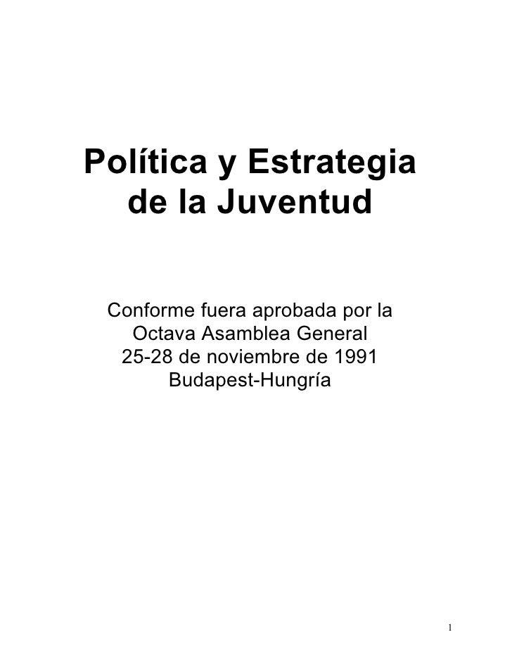 Politicas y estrategia   ficr