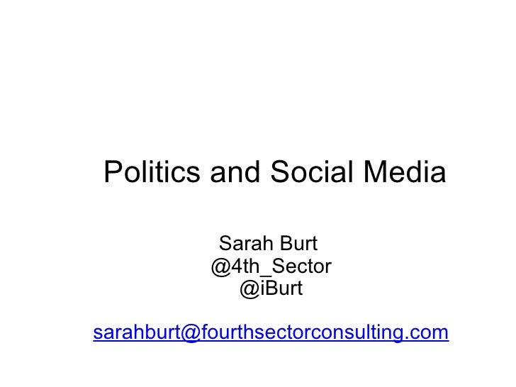 Politics And Social Media - How the Democratic Party Won in 08'