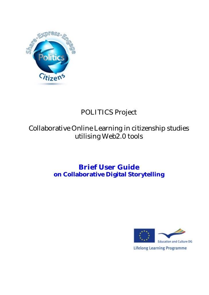 POLITICS ProjectCollaborative Online Learning in citizenship studies               utilising Web2.0 tools                B...