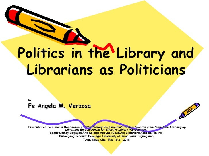 """by Fe Angela M. Verzosa Presented at the Summer Conference on  """"Revitalizing the Librarian's Values Towards Transformation..."""