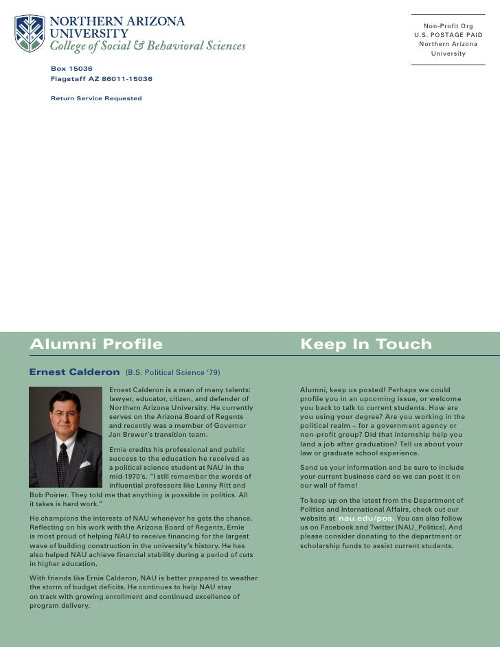 Politics Newsletter, Spring 2009