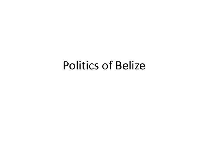 Politics of Belize<br />