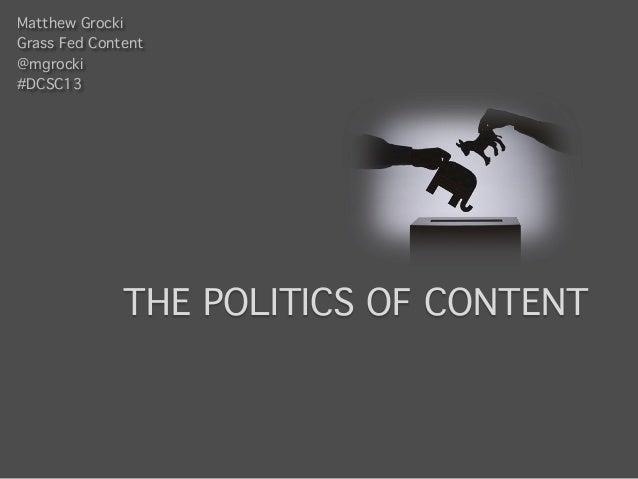 Politics of content 1.4
