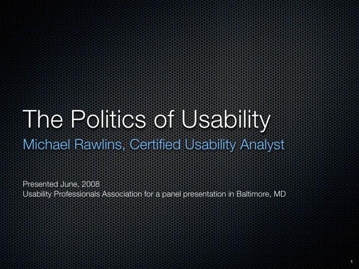 Politics Of Usability 09