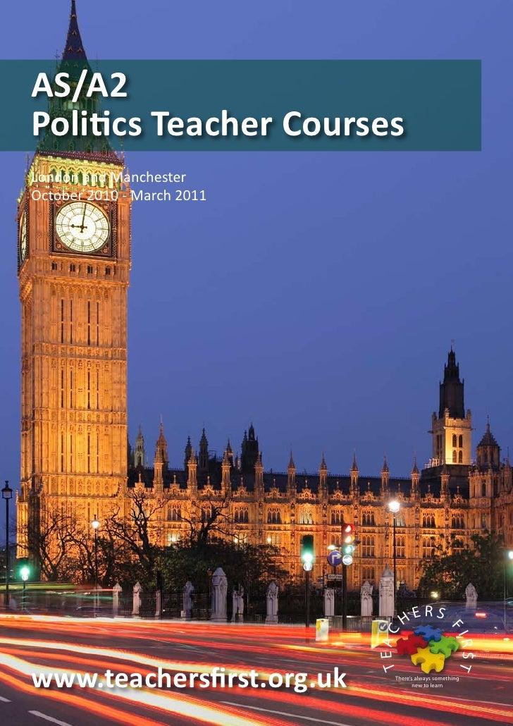 Politics teacher