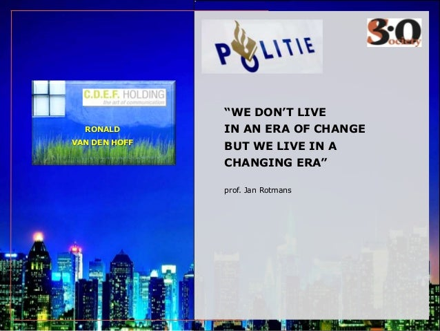 Politie in Society30: de toekomst is er vandaag al.