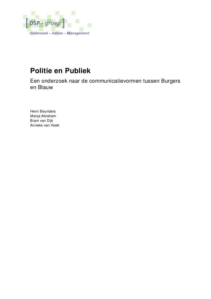 Politie en publiek_eindrapport