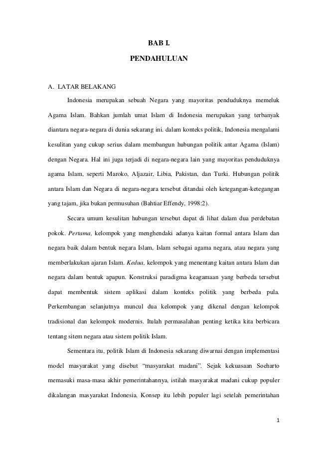 BAB I.                                PENDAHULUANA. LATAR BELAKANG       Indonesia merupakan sebuah Negara yang mayoritas ...