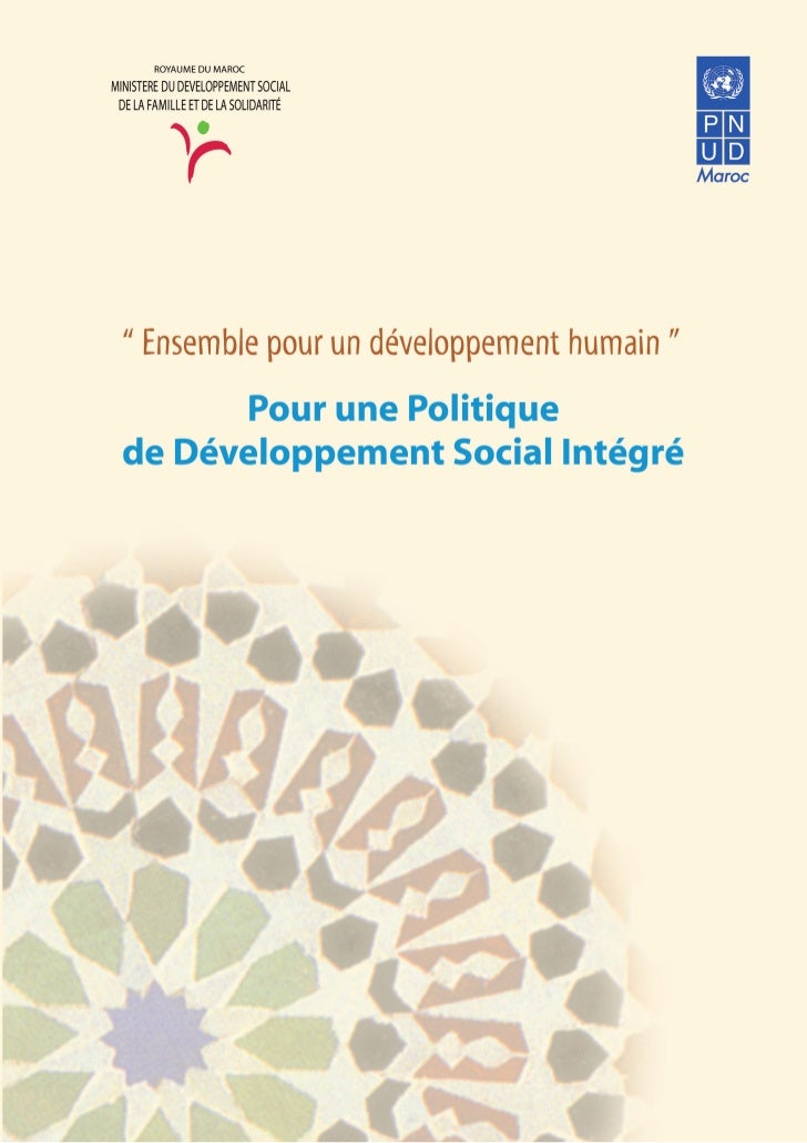 Politiq develop social  maroc