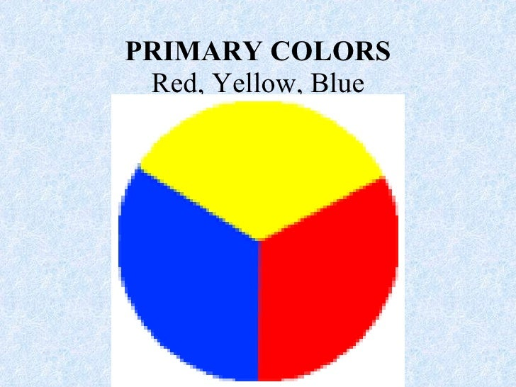 PRIMARY COLORS Red, Yellow, Blue
