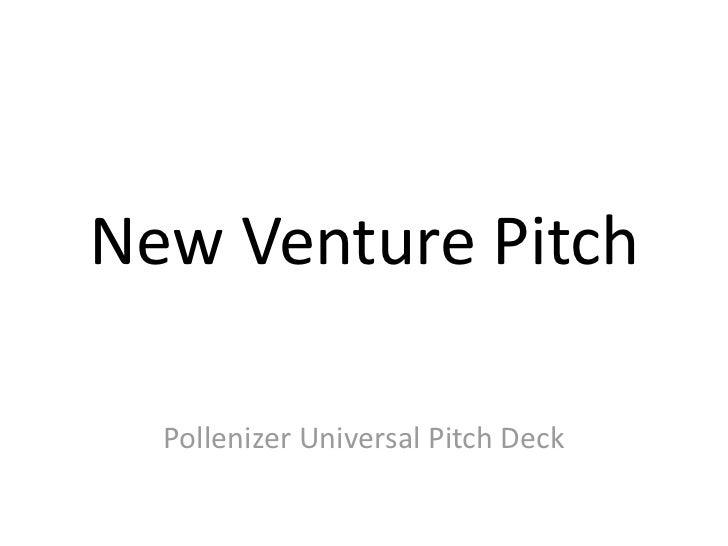 Pollenizer Universal Startup Pitch Deck