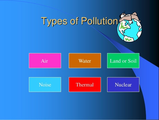 kinds of pollution essay
