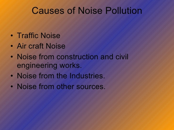 noise and air pollution essay