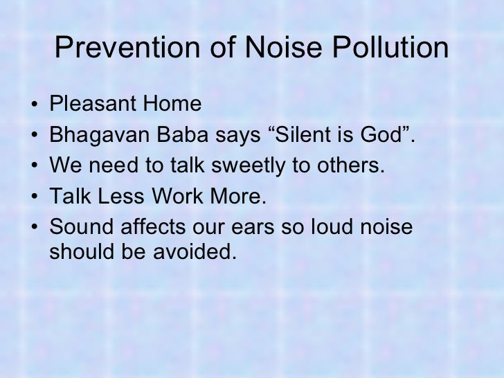types of noise pollution essay
