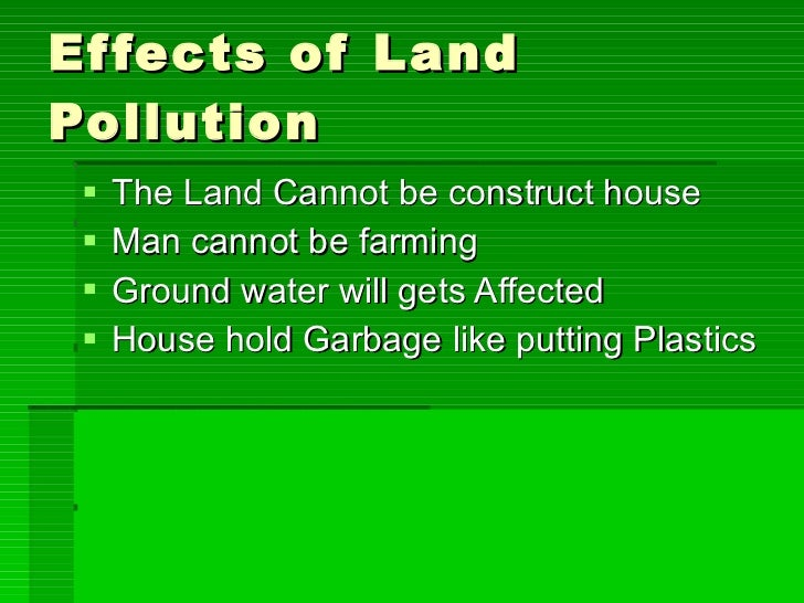 effects of pollution on earth essay