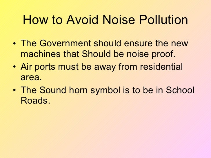 simple essay on noise pollution