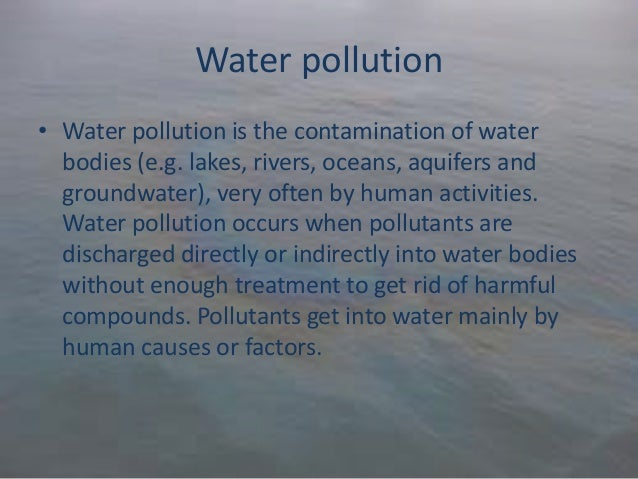 Write my essay on water pollution in hindi language
