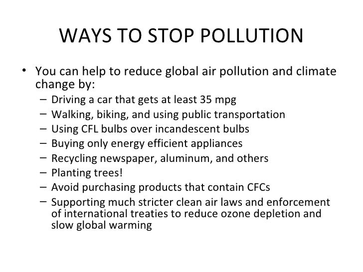 What can people do to decrease air pollution?