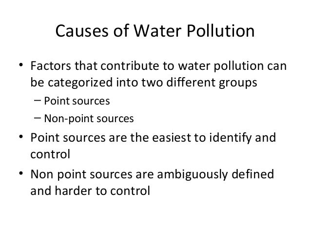 How can one start the introduction of water pollution?