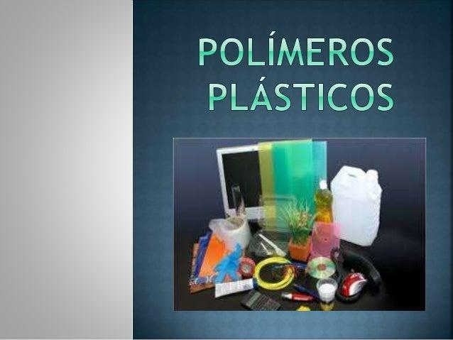 El plástico es un tipo de polímero sintético, ser plásticos significa que pueden deformarse hasta conseguir una forma des...