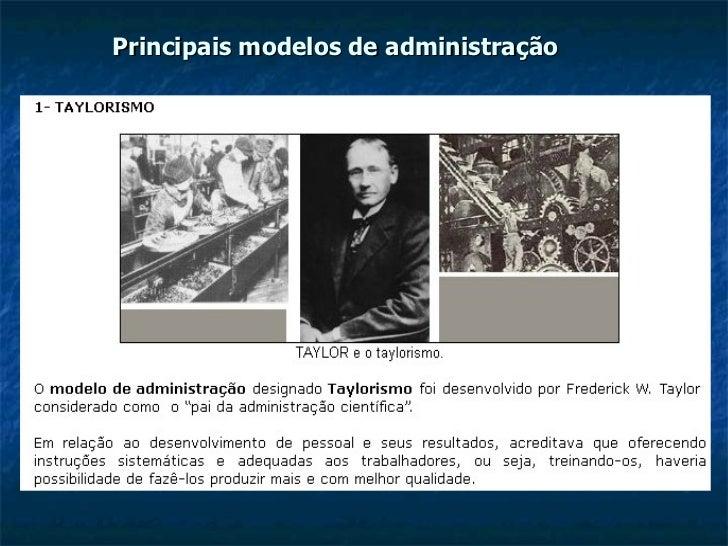 Principais modelos de administração