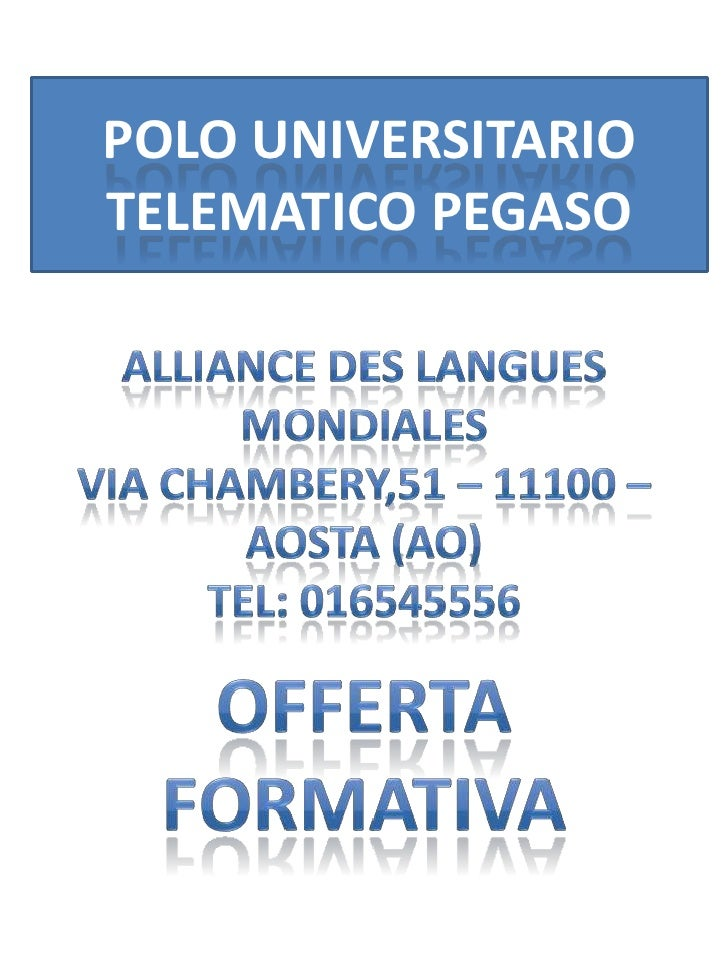 POLO UNIVERSITARIOTELEMATICO PEGASO