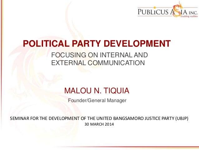 Political Party Development: External and Internal Communication