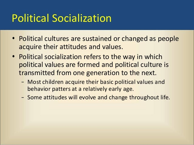 culture and socialization essay