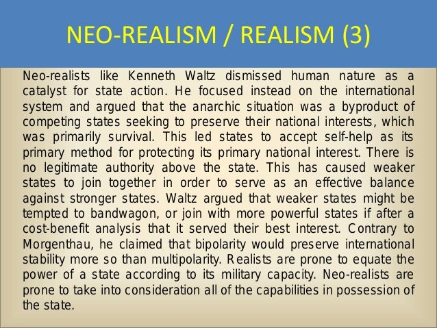 kenneth waltz theory and realist thinking