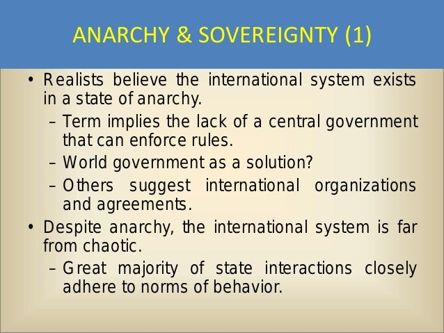 anarchy in the government