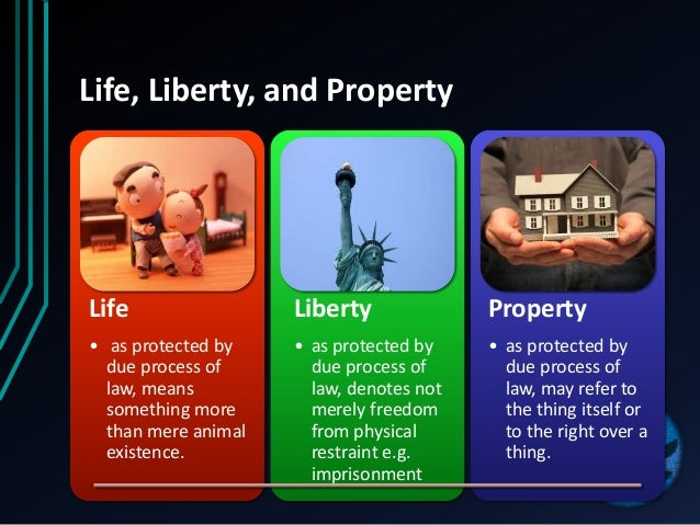 Protection of Life and Personal Liberty
