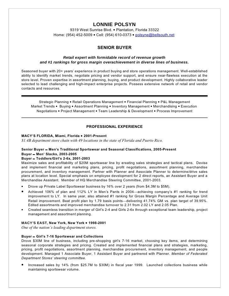 buyer resume objective