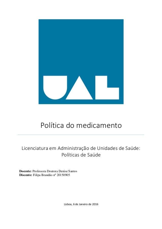 Política do medicamento portugal
