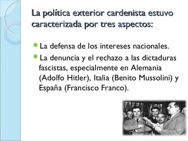 Pol tica exterior cardenista for Politica exterior de espana