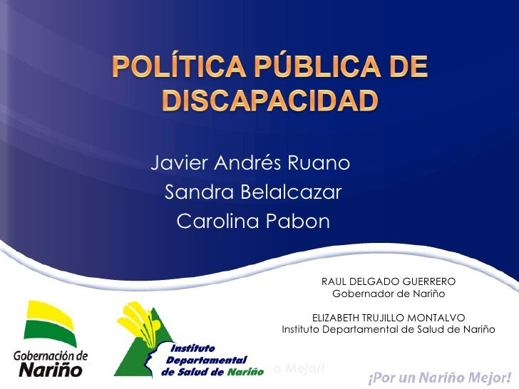 Política pública de discapacidad