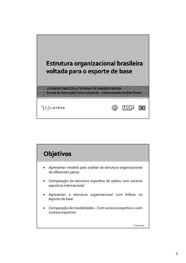 LEANDROMAZZEIeTATIANADEBARROSMEIRAEscoladeEducaçãoFísicaeEsporte– UniversidadedeSãoPaulo Apresentar modelo ...