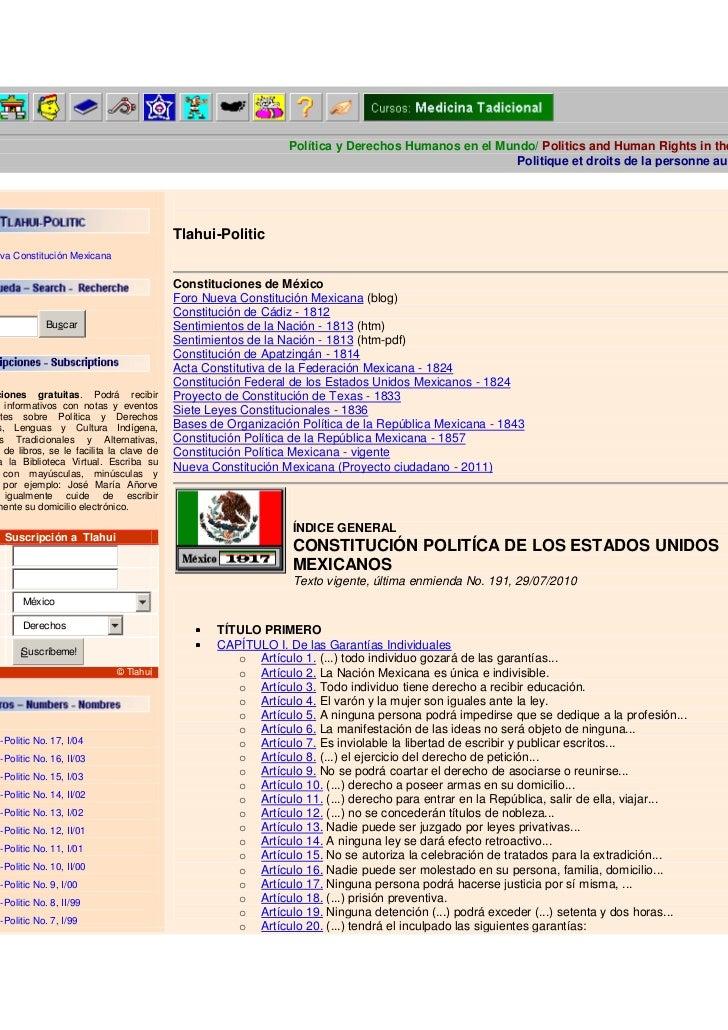 Política y Derechos Humanos en el Mundo/ Politics and Human Rights in the                                                 ...