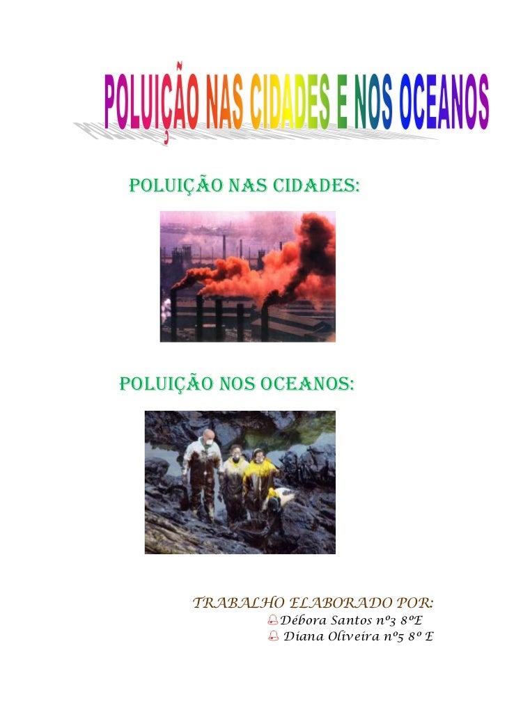PoluiçãO Nos Oceanos e nas cidades