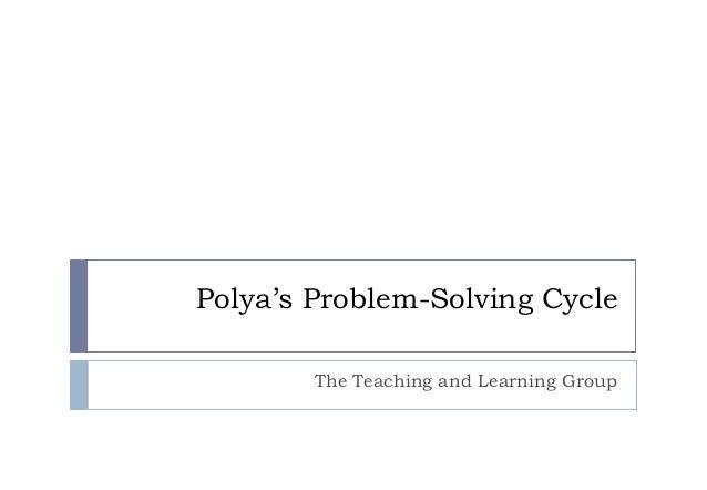problem solving according to polya
