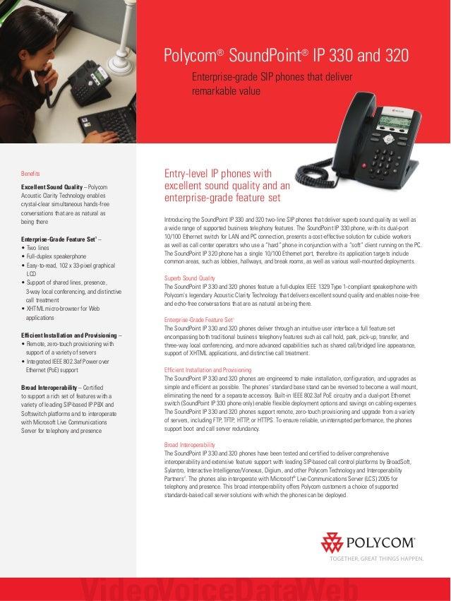 Polycom soundpoint ip320 ip330 data sheet
