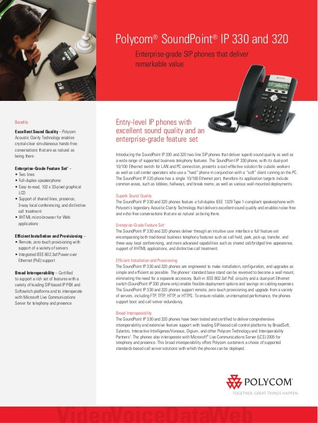 Polycom soundpoint ip320 ip330 data sheet